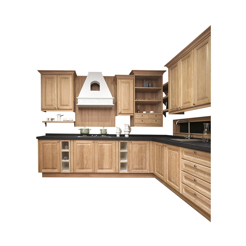 American Beige Color Solid Wood Kitchen Cabinets Luxury Kitchen Design Kitchen Cabinets Aliexpress