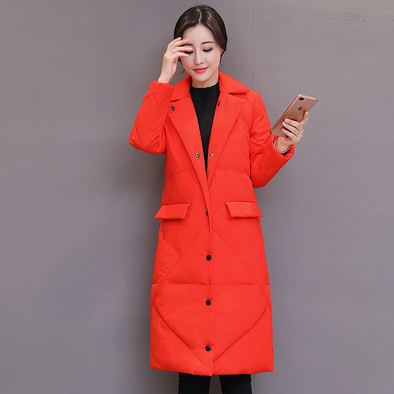 2017 Winter Parka Women Coat Long Slim Thickened Turtleneck Warm Jacket Down Cotton Jacket Outwear Parkas LF17-1017 women lady thicken warm winter coat hood parka overcoat long outwear jacket