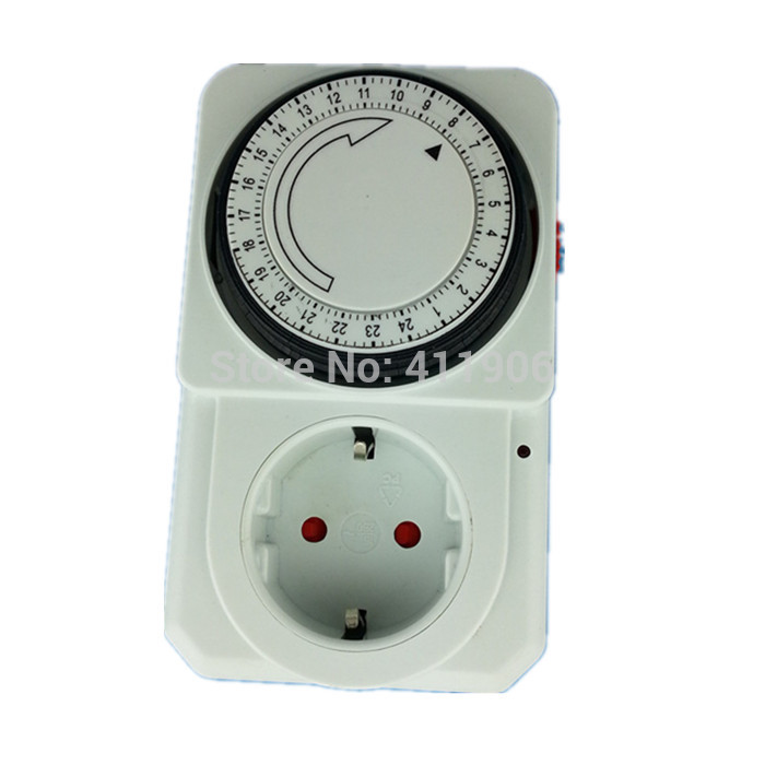 24 Hours Programmable Analog Switch Timer Controller EU Plug 220V Energy Saving Electronic Timer Plug Switch Light On Off