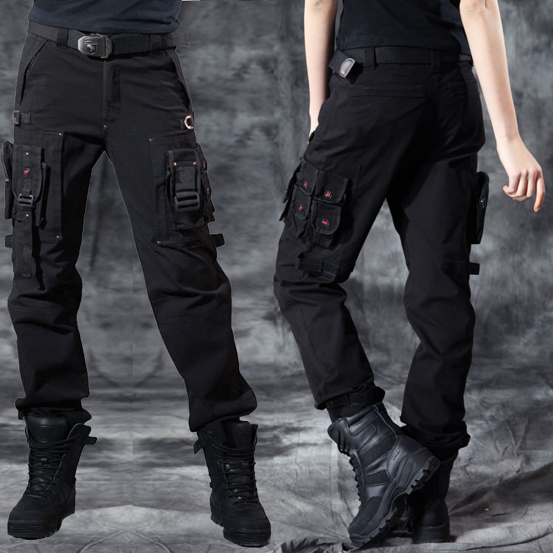 buy black cargo pants - Pi Pants