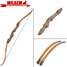 """1set 60inch 20 55lbs Archery Takedown Recurve Bow American Hunting Bow Wooden 21"""" Handle Riser RH Shooting Hunting Accessories"""