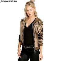 Jocelyn Katrina Brand Women Jackets 2017 New Autumn Winter Jacket Coat Casual Short Tops Basic Parka