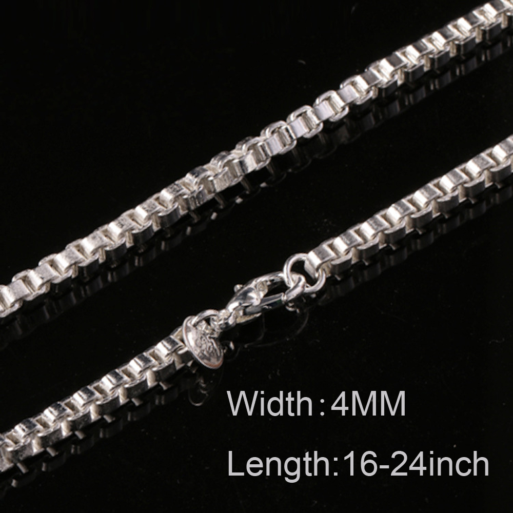 Roman Links 925 Sterling Silver Necklace Chain for Men All Lengths