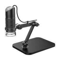 HD USB цифровой микроскоп светодиодный 2MP электронный микроскоп Эндоскоп зум Камера лупа+ подъемная подставка инструменты для работы и школы