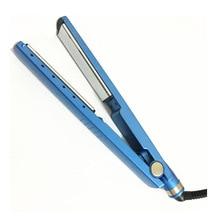 Высокое качество волосы быстро пластинки выпрямителя профессиональный Nano Титан покрытием 1,25 »волосы плоская машина 110 до 240 В UK/EU /США Plug