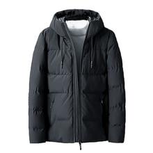 Chaquetas gruesas y cálidas para hombre, abrigo con capucha y forro polar, prendas de vestir, envío directo ABZ107