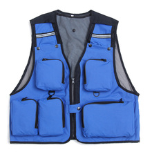 Outdoor Sport Clothing Fishing Vest Summer Fishing Vest Multi Pocket Fishing Director Photojournalist Clothes 7 Colors