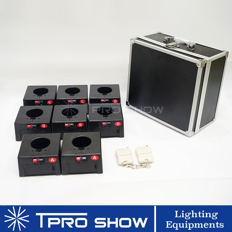 2 x 4 Channel Group Indoor Fountain Base Wedding Machine 2 Wireless Remote Controller 8 Receiver A Package