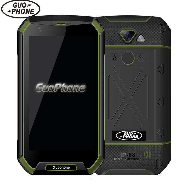 Original GuoPhone V16 IP68 With 4G LTE 5 0 Android 5 0 MTK6737 1GBRAM 16GBROM Fingerprint