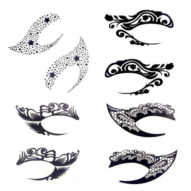 1pair Charming Eye Art Temporary Tattoos Sticker Eye Rocks Liner DIY Decorations Makeup Tools Eyelid Lace
