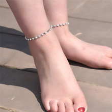 Best Price Silver Ankle Bracelet Women Anklet Adjustable Chain Foot Beach Jewelry Free Shipping