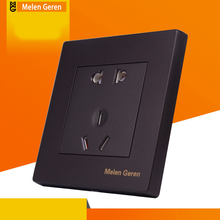 Universal Plug Wall Electrical Socket Switch Multi-function 5 Hole Power Outlet Panel With Child Protective Door 110-250V 15A one pcs hi end universal socket power filter conditioner black weiduka 3000w ac8 8 10way 15a