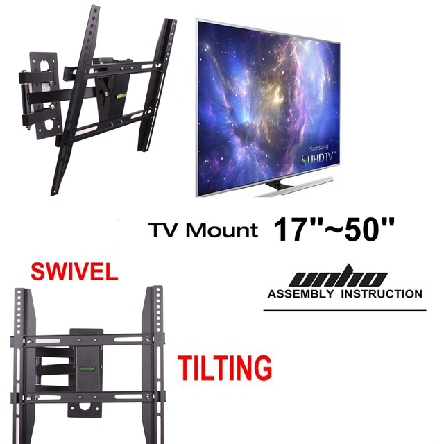 Articulating Tv Wall Mount Bracket Lcd Led Tv Stand Swivel Tilt Arm
