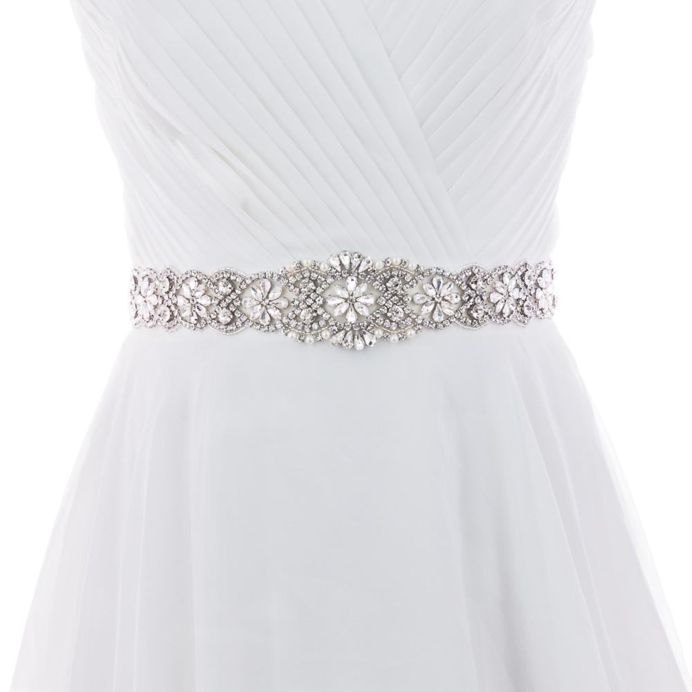 Wedding Gowns With Sashes: S161B Wedding Sash Beaded Rhinestone Belts Sashes Wedding