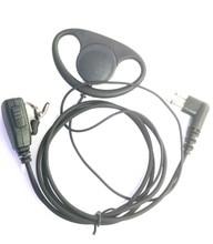 2 Pin D Shape Headset for Motorola GP88 GP300 GP308 GP2000 GP3688 CP040 EP450 PTX600 PRO1150 Sprit Series Walkie Talkie