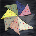 Child Toddler Star flake Rhombus Handmade Cotton Scarf Infinity Square Scarves CO122W