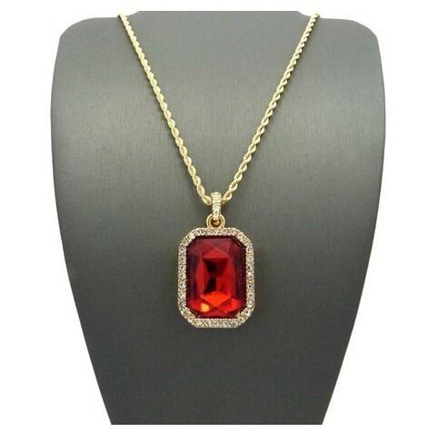Ngjyra e artë e artë prej mashkullore, Ngjyra e varëse kristali - Bizhuteri të modës - Foto 3