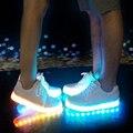 Led luminoso de incandescência tênis usb cobrando crianças light up led crianças shoes com crianças casuais meninos & meninas sapato enfant