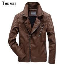 TANGNEST 6XL Motorcycle Leather Jackets Men Autumn Moto Vintage Mens Jackets Coat