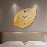 Современные дизайнерские настенные часы Гостиная украшения персональные настенные часы творческий дом молчать качели большие настенные ч