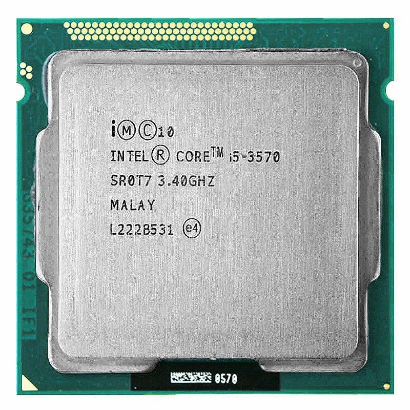 Processeur Intel Core i5 3570 i5-3570 3.4 GHz/6 mo LGA 1155 processeur d'unité centrale HD 2500 mémoire prise en charge: DDR3-1333, DDR3-1600