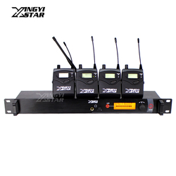 SR2000 Professional Monitoring UHF Wireless In Ear Earphone Stage Monitor System Transmitter With Four Receiver Video Recording