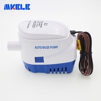 DC12V 24V Electric For Boats Accessories Marin Automatic Bilge 600GPH Auto Submersible Water Pump
