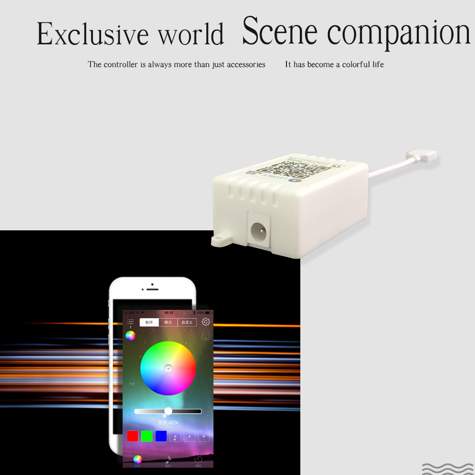 24 Keys Led Controller Wireless RF APP Remote Control For Led Strip Light RGB RGBW APP Controller Bluetooth Music DC 12 24V 5V in RGB Controlers from Lights Lighting