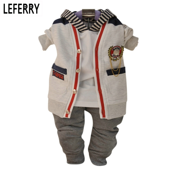 Baby Boy Clothes Sets 3PCS Newborn Infant Clothing Baby Boy Toddler Clothes Kids Baby Kleding Outerwear 2017 New Autumn