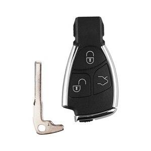 Image 3 - Keyyou carcaça de chave inteligente automática, para automóveis, 3 botões para mercedes benz b c e ml s clk cl gl w211 cromado estilo com suporte de bateria