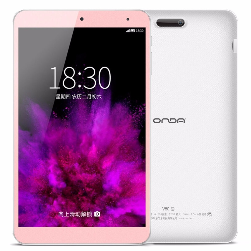 ONDA V80 SE 8.0 inch Tablets Allwinner A64 Quad-Core 64-bit 1.83GHz ONDA ROM 2.0 Android 5.1 OS Tablet PC 32GB 2GB OTG автомобильный держатель wiiix kds wiiix 01tv для планшетов черный