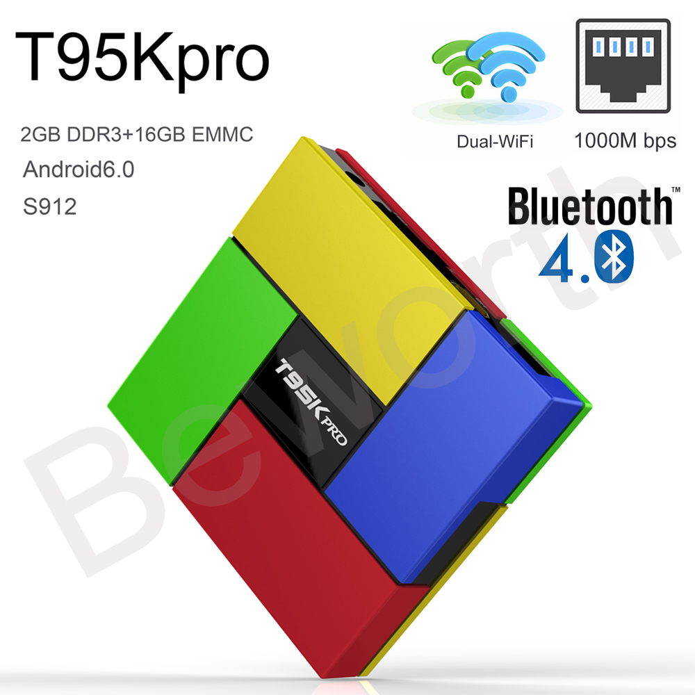 Android Smart OTT TV Box T95K Pro Amlogic S912 Octa Core Mini PC 2GB 16GB Streaming Media Player 2.4G/5G Wifi Bluetooth 4K Movie diamond a9 android 6 0 tv box amlogic s912 2gb 16gb quad core wifi hdmi 4k 2k hd smart set top box media player mini pc iptv box