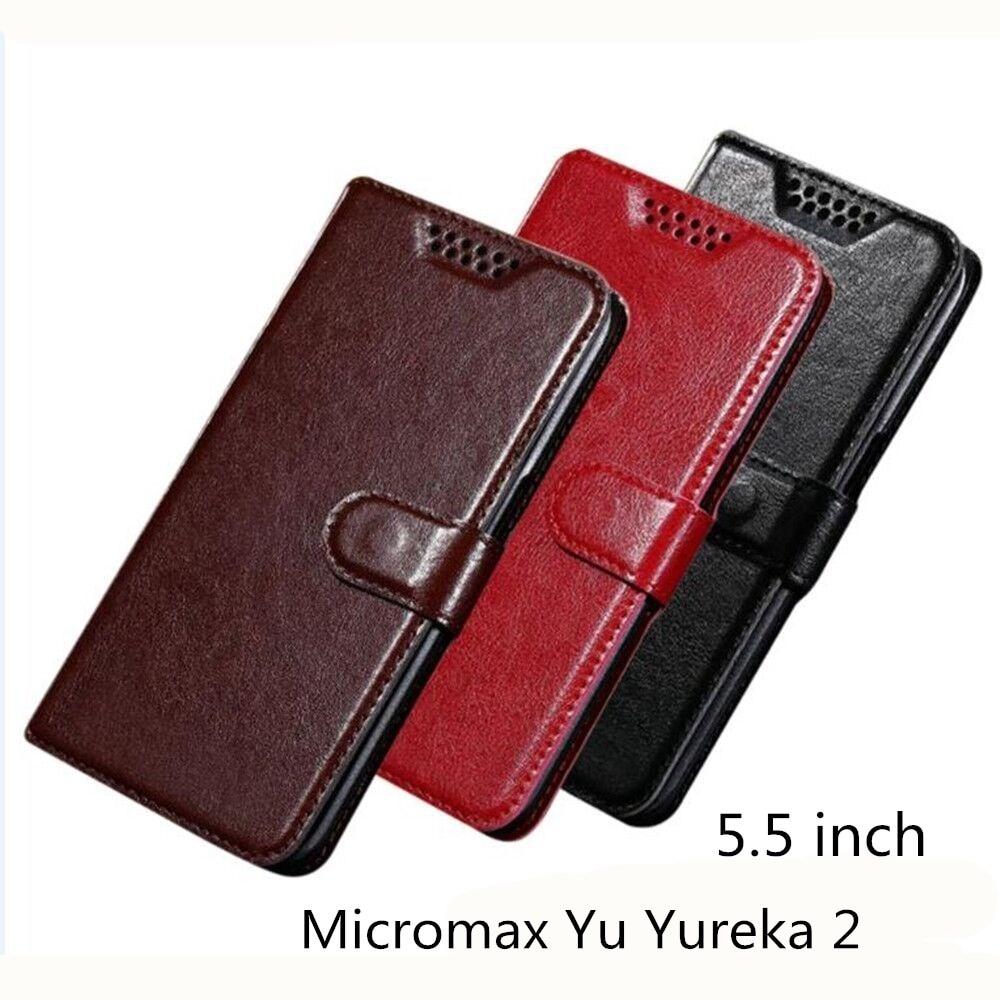 Case Voor Micromax Yu Yureka 2 Case Pu Leather Flip Luxe Houder Telefoon Tas Gevallen Cover Voor Micromax Yu Yureka 2 Wallet Case