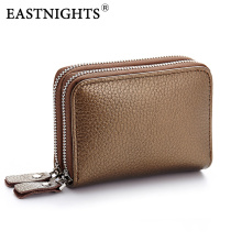 EASTNIGHTS Small Zipper Wallet Women Genuine Leather card holder wallet Fashion Coin Purse Men Short credit card wallet TW2720-1