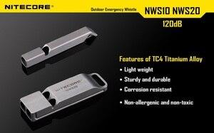 Image 4 - Nitecore NWS10ไทเทเนียมฉุกเฉินนกหวีดสร้อยคอจี้กลางแจ้ง120dBพร้อมพวงกุญแจ + จัดส่งฟรี