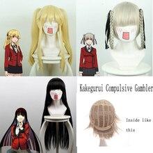 Kakegurui Zwanghaften Gambler Mary Saotome Momobami Kirari Jabami Yumeko Synthetische Haar Cosplay Kostüm Perücken + Perücke Kappe