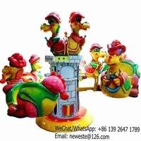 5pcs Children Funny Amusement Park Equipment Rotary Dinosaur Kiddie Rides