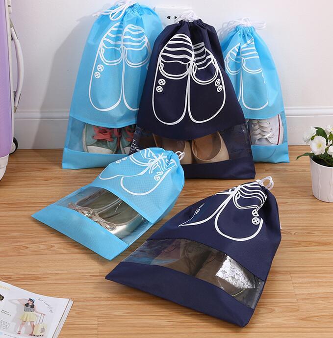 6PC 옷장 정리 기 Drawstring 가방 신발 보관 가방 여행 수하물 가방 가방 신발 가방 신발 주최자 옷장 주최자