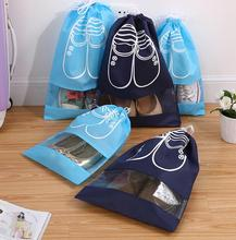 6PCS/SET  Dustproof drawstring bag Shoes Storage Bags For Travel Shoe bag closet organizer Laundry Cosmetic Underwear Organizer