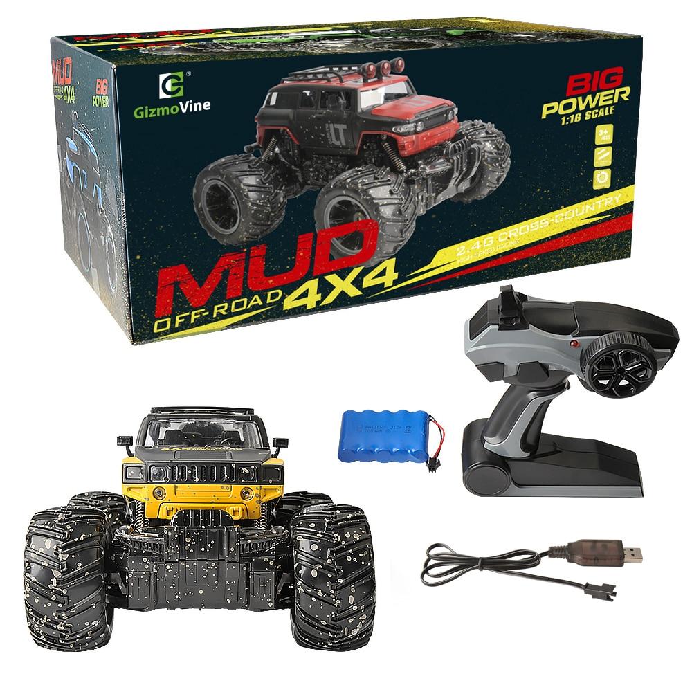GizmoVine-RC-Car-RC-Dirt-Bike-24Ghz-116-2-Wheel-Drive-Rock-Crawler-Rally-Car-4x4-Motors-Bigfoot-car-Off-Road-Vehicle-Toys-5