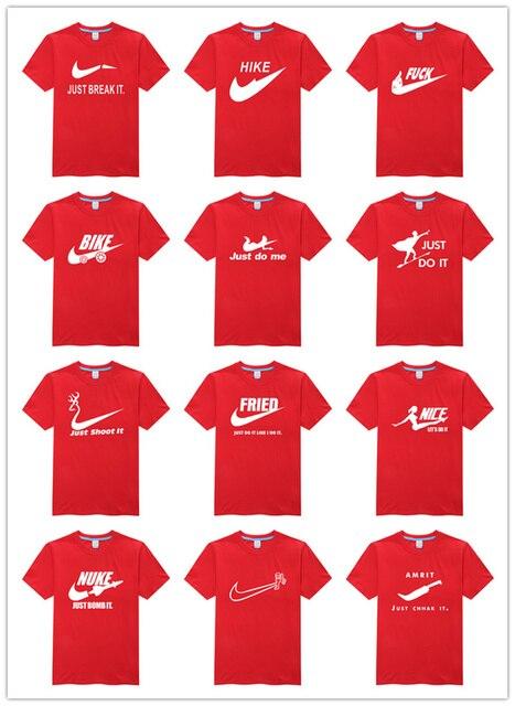 ホット販売パロディーブランドロゴシャツ高品質最高のクール男性オリジナルtシャツ輝い
