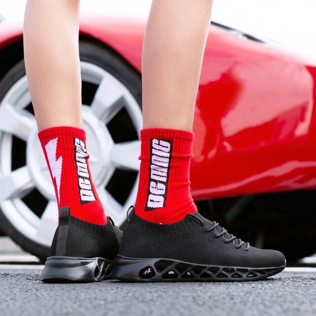 FEOZYZ Low Top Running Shoes Men Women Breathable Knit Upper Sneakers Women Men Plus Size 35-48 Lightweight Outdoor Sport Shoes 1