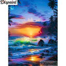 Dispaint Full Square/Round Drill 5D DIY Diamond Painting Wave scenery sunset 3D Embroidery Cross Stitch Home Decor Gift A12492