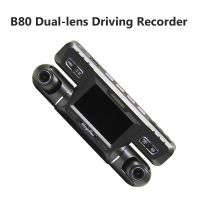 Video Camera Recorder 2.7 Inch LCD Multilingual Full HD 1080P 2018 New Dual Lens 170 Degree+120 Degree Dash Cam Auto Car DVR B80