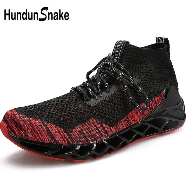 Hundunsnake High Top Running Socks Sneakers Men Black Men s Sports Shoes  Sport Knit Running Shoes Man Athletic Shoes Train T649 1c344e0684f7