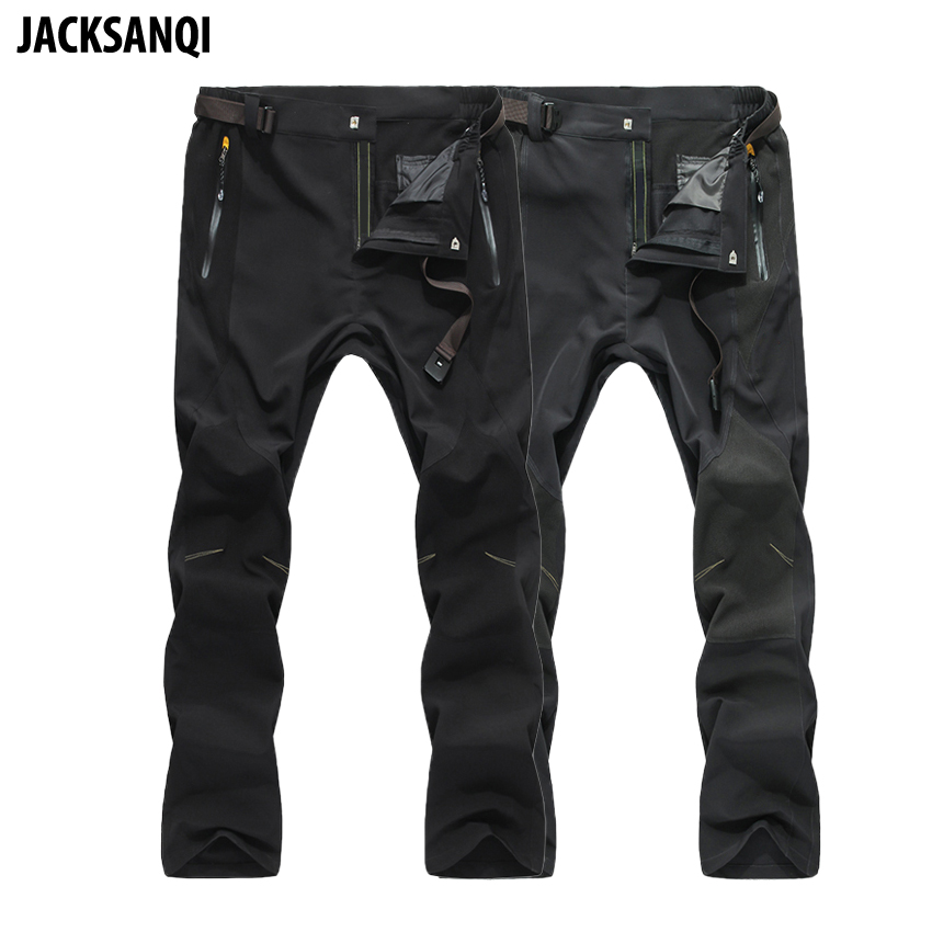 JACKSANQI Mens Pants Summer Quick Dry Elastic Waterproof Ultra-thin Outdoor Sport Pants New Men Hiking Trekking Trousers RA001