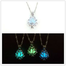 2019 Chakra Reiki Sabor Jewelry Buda Necklace New European And American Lotus Phase Box Hollow Night Luminous Fashion Pendant