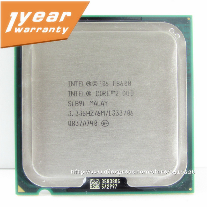 Intel Core 2 Duo e8600 Processor 3.33 ГГц 6 м 1333 мГц Socket 775 Процессор