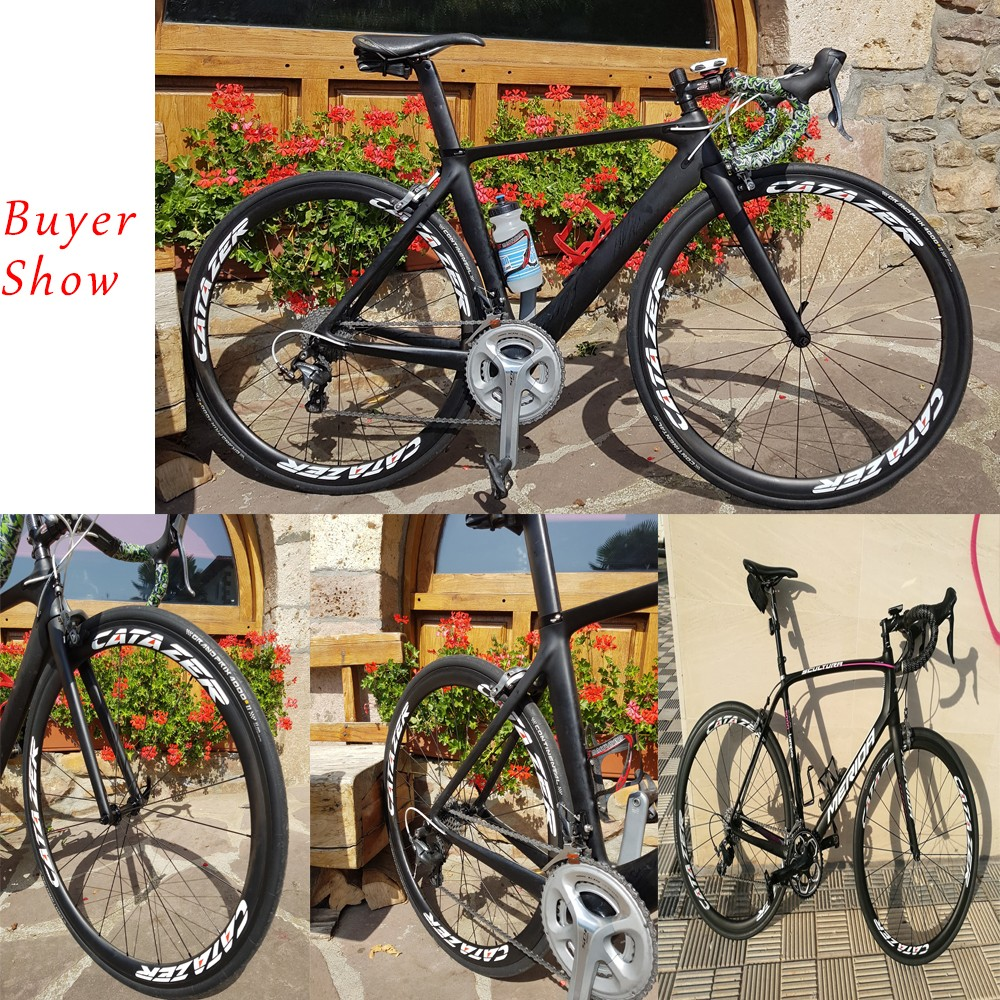 HTB1 g hmSMmBKNjSZTEq6ysKpXaK - CATAZER 700C Road Bike Super Light T800 Carbon Frame Racing Road Bicycle Carbon Wheelset R8000 22 Speed Professional Road Bike