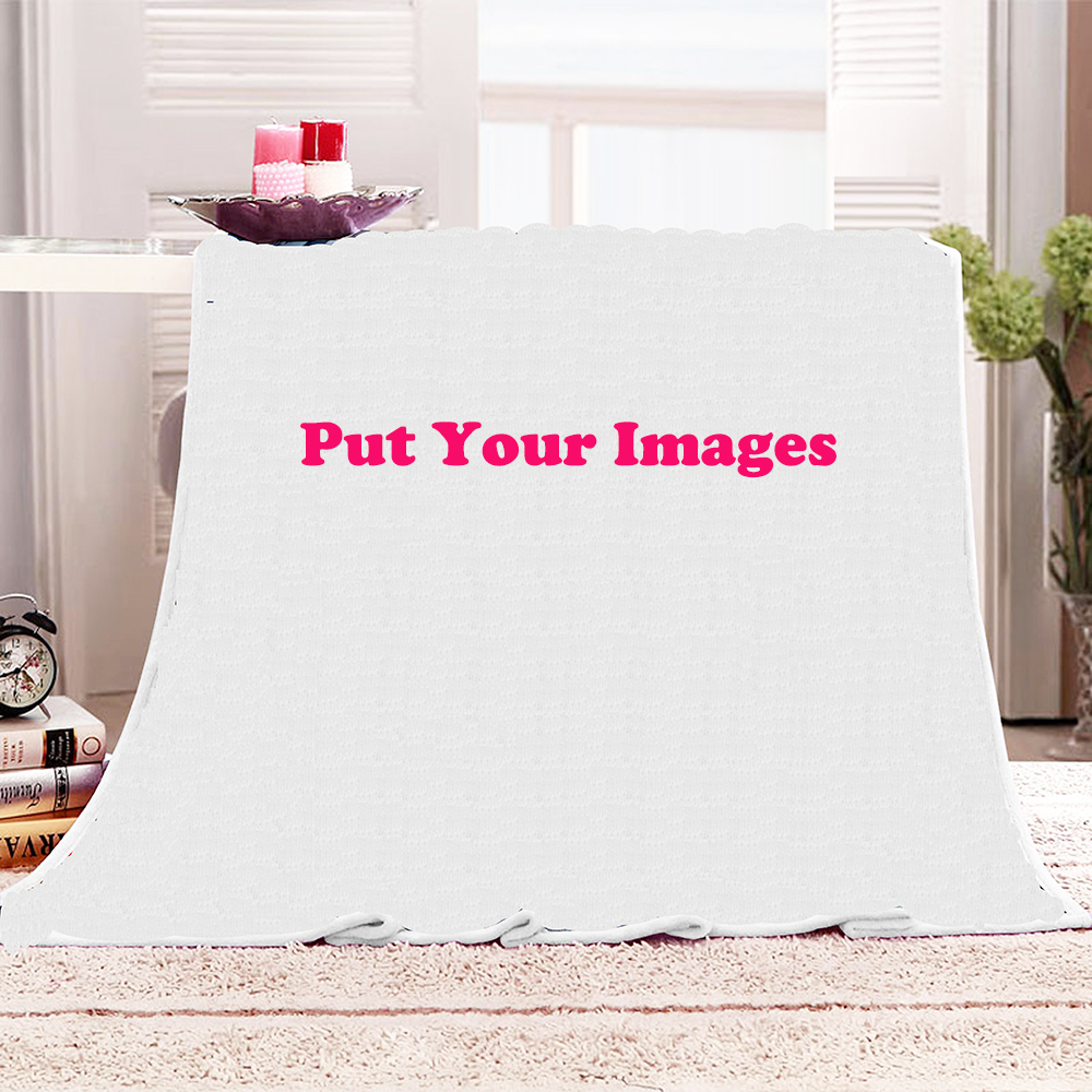 Customize Home Decor Throw Blanket DIY With Your Image Or Text Bed Sofa Couch Blanket Personalized Soft Plush Fleece Blankets